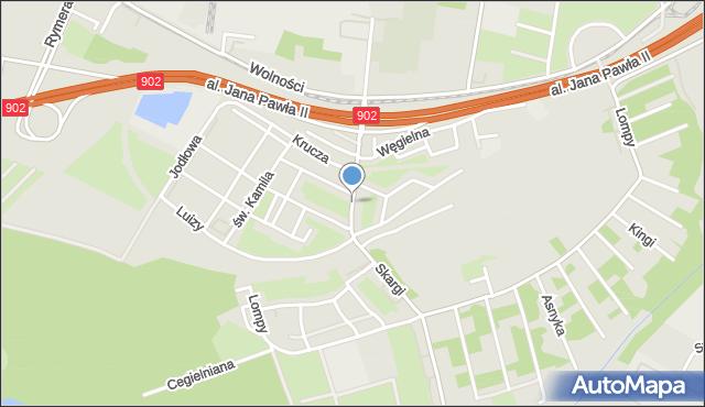 Zabrze, Skargi Piotra, ks., mapa Zabrza