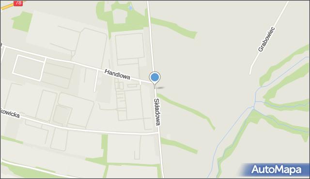 Zabrze, Składowa, mapa Zabrza
