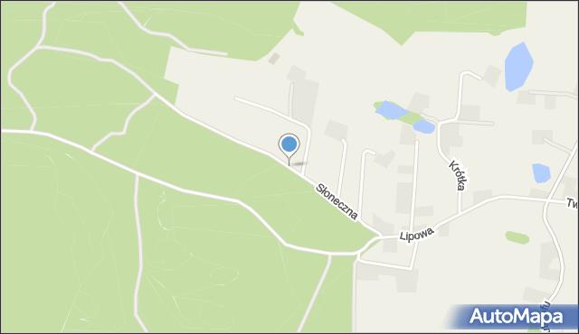 Barłomino, Słoneczna, mapa Barłomino