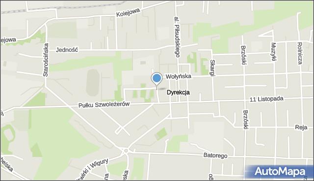 Chełm, Śląska, mapa Chełma