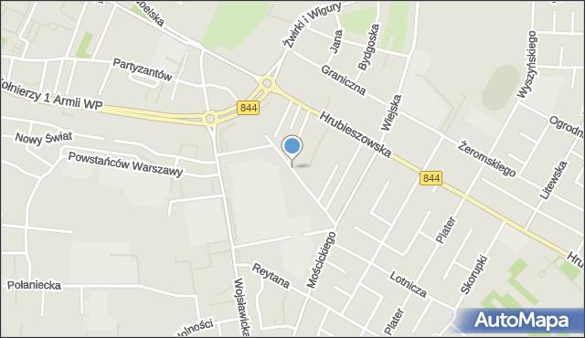 Chełm, Słoneczna, mapa Chełma