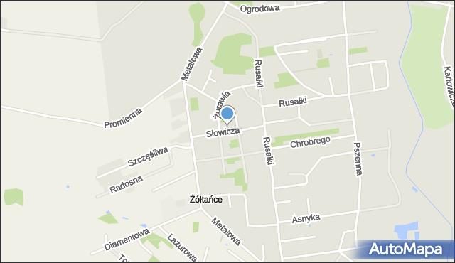 Chełm, Słowicza, mapa Chełma