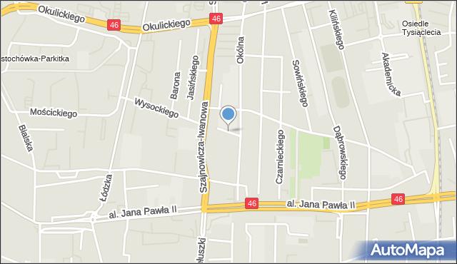 Częstochowa, Słonimskiego Antoniego, mapa Częstochowy