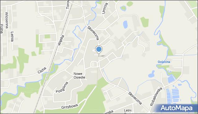 Gościcino, Słoneczna, mapa Gościcino
