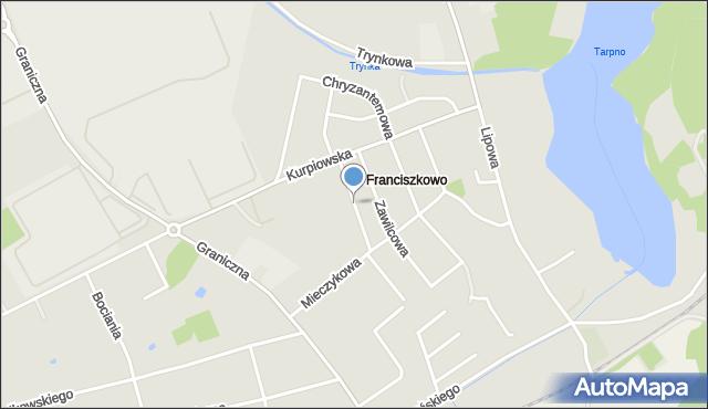 Grudziądz, Słonecznikowa, mapa Grudziądza