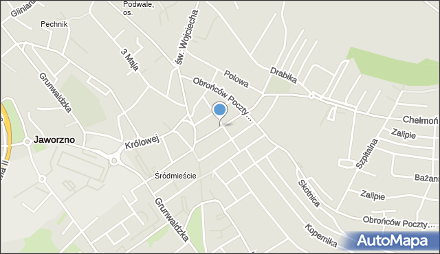 Jaworzno, Sławkowska, mapa Jaworzno