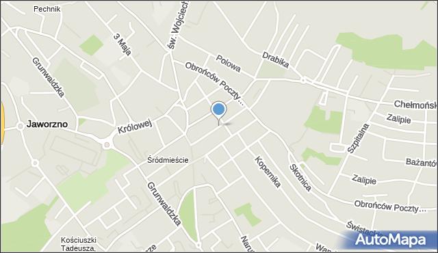 Jaworzno, Słowackiego Juliusza, mapa Jaworzno
