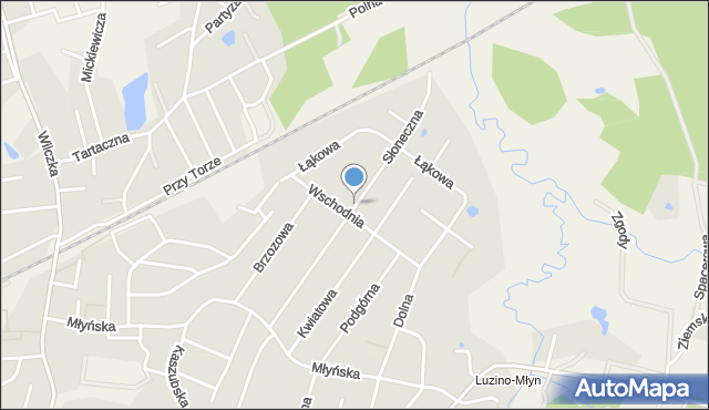Luzino, Słoneczna, mapa Luzino