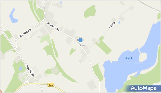 Małdyty, Słoneczna, mapa Małdyty