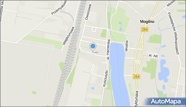 Mogilno, Słowackiego Juliusza, mapa Mogilno