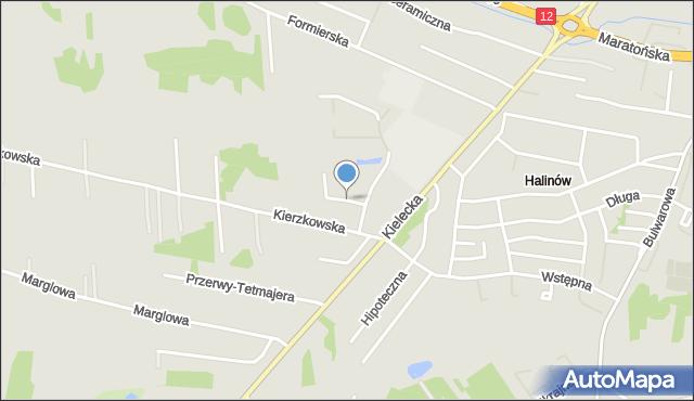 Radom, Sławna, mapa Radomia