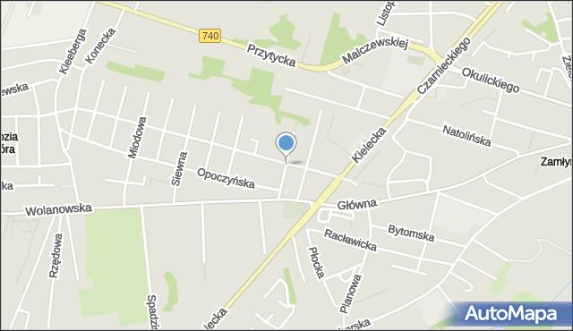 Radom, Śliska, mapa Radomia