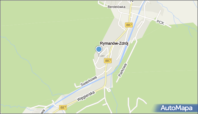 Rymanów-Zdrój, Słoneczny Stok, mapa Rymanów-Zdrój
