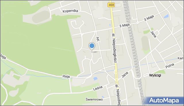 Sopot, Słowackiego Juliusza, mapa Sopotu