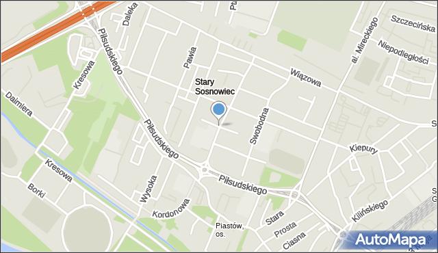 Sosnowiec, Słowiańska, mapa Sosnowca