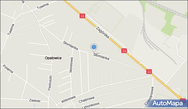 Tarnowskie Góry, Słomianka, mapa Tarnowskie Góry