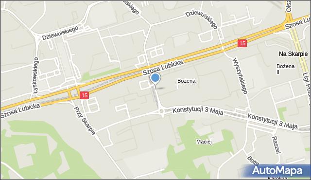 Toruń, Ślaskiego Ludwika, mapa Torunia