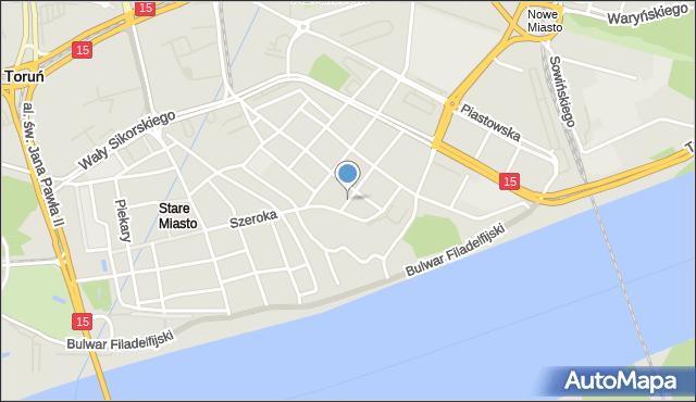 Toruń, Ślusarska, mapa Torunia