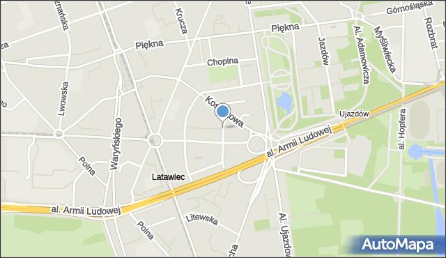 Warszawa, Służewska, mapa Warszawy