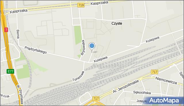 Warszawa, Sławińska, mapa Warszawy