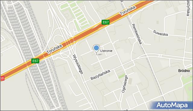 Warszawa, Słubicka, mapa Warszawy