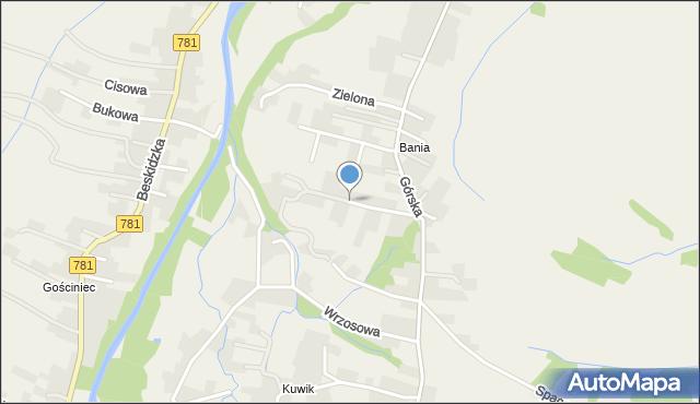 Wieprz powiat wadowicki, Słoneczna, mapa Wieprz powiat wadowicki