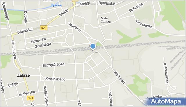 Zabrze, Śląska, mapa Zabrza