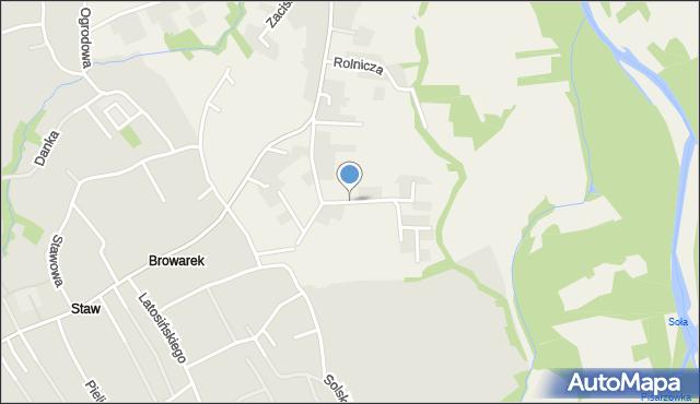 Zasole Bielańskie, Słoneczna, mapa Zasole Bielańskie