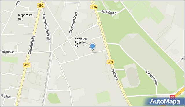 Grudziądz, Smoleńskiego Józefa, gen., mapa Grudziądza