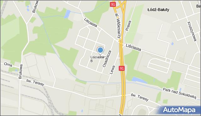 Łódź, Smolika Przecława, mapa Łodzi