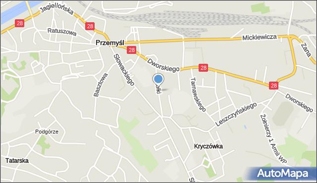 Przemyśl, Smolki Franciszka, mapa Przemyśla