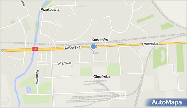 Przemyśl, Smolna, mapa Przemyśla