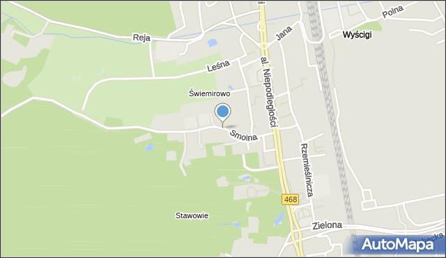 Sopot, Smolna, mapa Sopotu