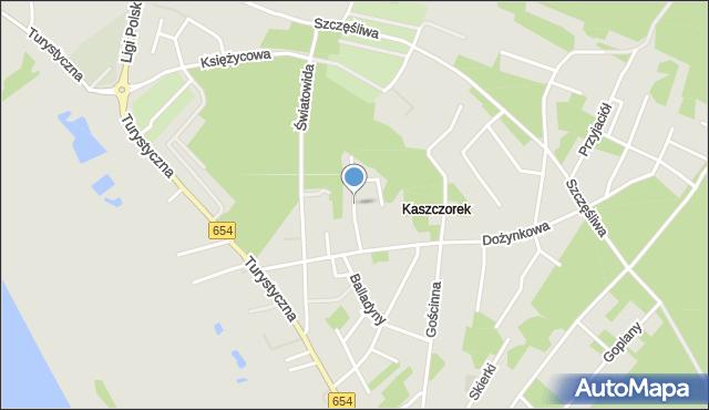 Toruń, Smocza, mapa Torunia