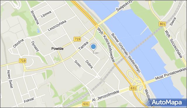 Warszawa, Smulikowskiego Juliana, mapa Warszawy