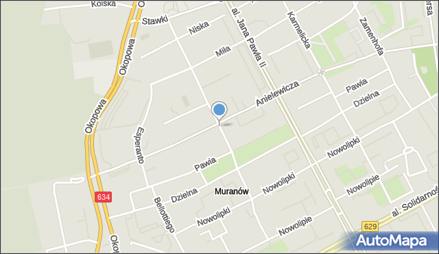 Warszawa, Smocza, mapa Warszawy