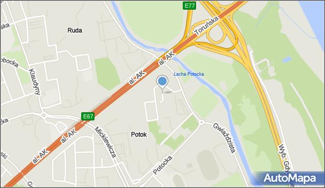 Warszawa, Smoszewska, mapa Warszawy