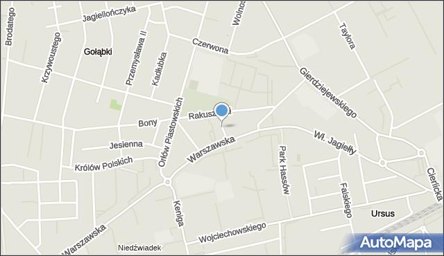 Warszawa, Śmigielska, mapa Warszawy