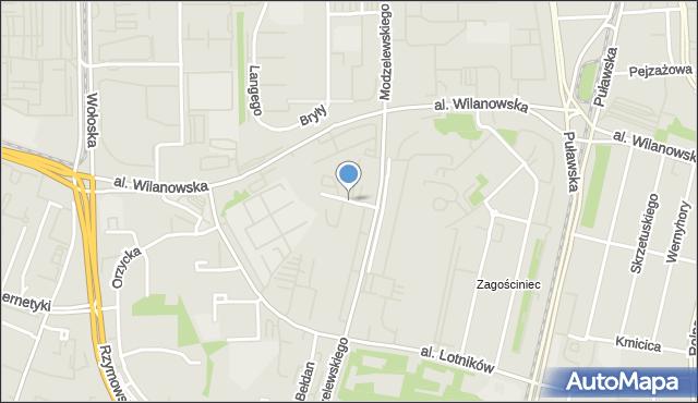 Warszawa, Smoluchowskiego Mariana, mapa Warszawy