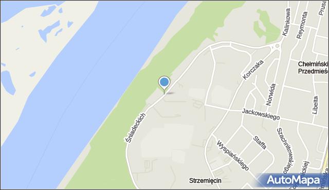 Grudziądz, Śniadeckich, mapa Grudziądza