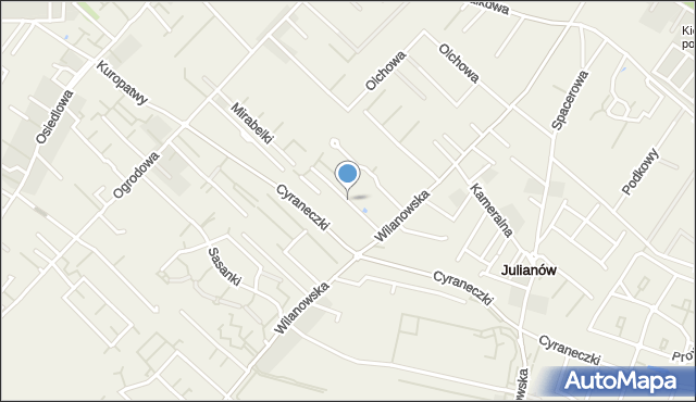 Józefosław, Śnieguliczki, mapa Józefosław