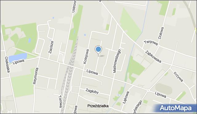 Sokołów Podlaski, Śniadeckich, mapa Sokołów Podlaski