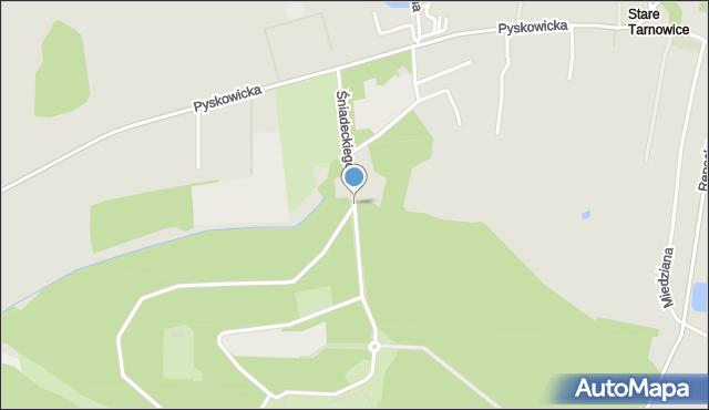 Tarnowskie Góry, Śniadeckiego Jana, mapa Tarnowskie Góry