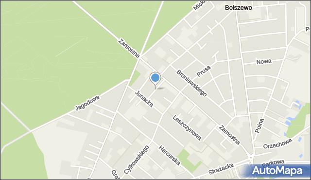 Bolszewo, Sosnowa, mapa Bolszewo