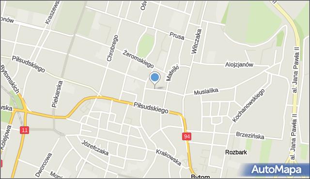 Bytom, Sokoła, mapa Bytomia