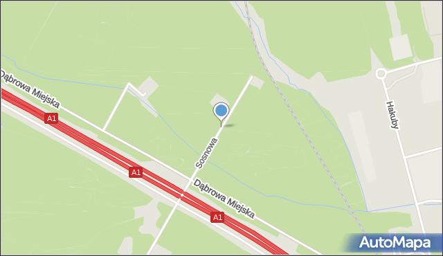 Bytom, Sosnowa, mapa Bytomia