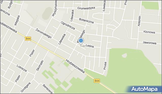 Chełm, Sosnowa, mapa Chełma