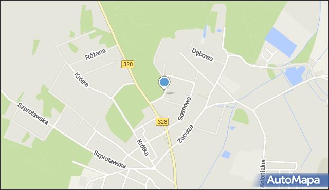 Chocianów, Sosnowa, mapa Chocianów