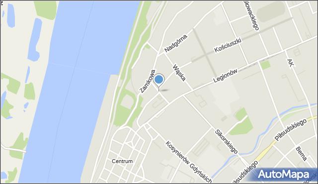 Grudziądz, Solna, mapa Grudziądza