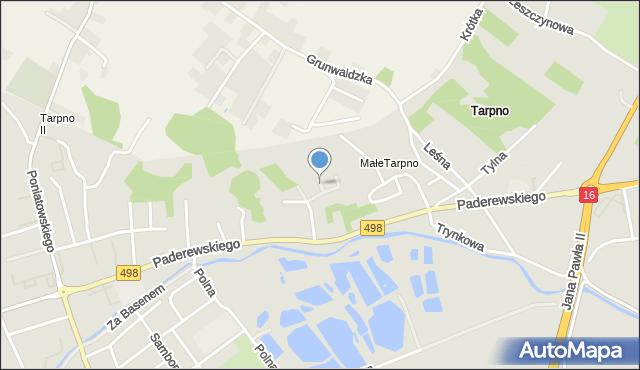 Grudziądz, Sopocka, mapa Grudziądza